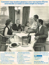 PUBLICITE ADVERTISING 035  1973  CARTE BLEUE