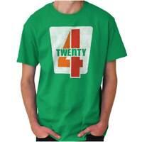 420 Funny Stoner Marijuana Weed Pot Smoker Adult Short Sleeve Crewneck Tee