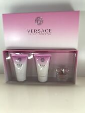 Versace BRIGHT CRYSTAL 3PC MINI GIFT SET PERFUME + LOTION + S/ GEL NEW IN BOX