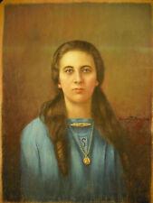 César Pattein Portrait signé Georgette femme de Maurice Deschodt 1922 Pastel