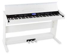 B-WARE 88-Tasten Digital E-Piano Beginner Home Keyboard Klavier Pedale USB Weiß