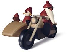 Björn Köhler Weihnachtsmann Familienausflug auf Motorrad mit Beiwagen Erzgebirge