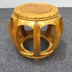 Round Stool Drum stool Ming Dynasty Style Silkwood Gold thread Nan wood金絲楠#1177