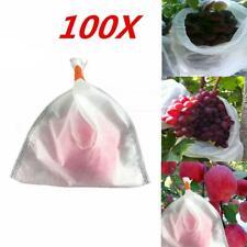 100Pcs Garden Plant Fruit Protect Net Mesh Bag Against Insect Bird Pest Tools