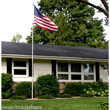 American Pride Flag Pole Set Usa United States Front Yard Outdoor Flagpole Lawn