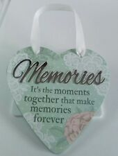 'Memories' Hanging Heart Reflective Words & Sentiments From History & Heraldry