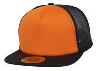 TopHeadwear Adjustable Trucker Caps - Black/Orange