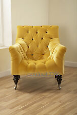 Mr Bright Gold Leaf Velvet Fabric Armchair Chair