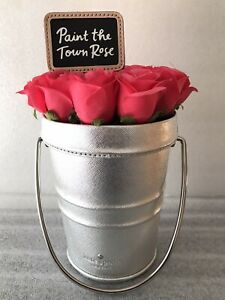 Kate Spade Rose-Colored Glasses Paint the Town Rose Bucket Rose Pail Bag Pre-own
