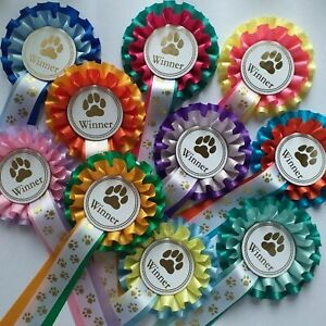 Dog Rosettes Well Done Rosettes Or Winner Rosettes Mixed Colour Free Postage x 5