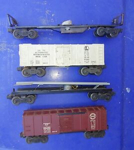 Original Lionel Parts Cars 3472 3359 X6454 3562 Lot