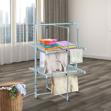 Electric Clothes Airer Dryer Laundry Fold 2 Tier Rack Portable