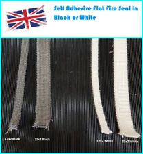 Self Adhesive Woodburning Woodburner Stove Rope Glass Seal Flat Tape Fire Gasket