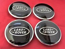 4Pcs Land Rover Supercharged Wheel Center Caps WHEEL HUB CENTER Cover Black