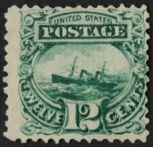 US Sc# 117 *MINT NG LH* { 12c GREEN PICTORIAL } BEAUTY OF 1869 SERIES CV$ 700.00
