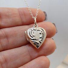2 Photo Heart Locket - 925 Sterling Silver - Locket Love NEW Memories