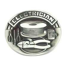 Vintage Electrician Belt Buckle Western Cowboy Native American (ELT-03)