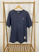 VTG 90s Tommy Hilfiger Men's Flag Distressed Short Sleeve T-Shirt Size L USA