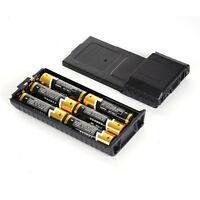 New Extended 6*AA Battery Case Pack Shell For BaoFeng UV5R UV5RB UV5RE Black