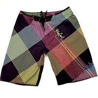 Rip Curl Men's Sz 36 Multicoloured Drawstring Pocket Board Shorts Boardies