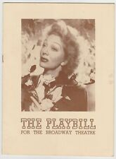 The Broadway Theatre Playbill Lady In The Dark March 7, 1943