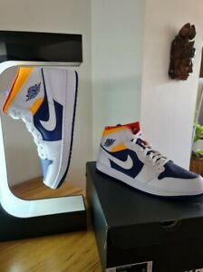 Air Jordan 1 Mid Royal Blue Laser Orange US13