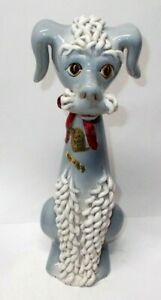 """Vintage Nora Fenton Imports Poodle Dog Figurine, 10"""" Made in Italy"""