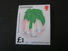 ASCENSION IS. SCOTT # 287, 1-1POUND STERLING VALUE 1981 PLANTS ISSUE MNH