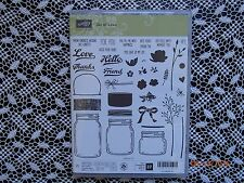 Stampin Up ! Jar of Love Clear Photopolymer Stamp Set 37 Stamps ~ NIP