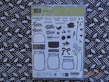 Stampin Up ! Jar of Love Clear Photopolymer Stamp Set 37 Stamps ~ NIP