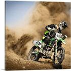 ARTCANVAS Dirt Bike Motocross Dust Cloud Canvas Art Print