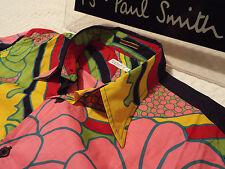"""PAUL SMITH Mens MAINLINE Shirt 🌍 Size L (CHEST 44"""") 🌎RRP £195+📮VIBRANT FLORAL"""