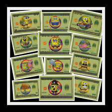 LOT SET 12~SPONGEBOB MONEY STICKER~KIDS BOYS GIRLS BIRTHDAY PARTY FAVORS