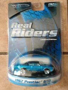Hot Wheels ORIGINAL Real Riders 1967 Pontiac GTO in electric blue!!!