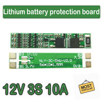 3S 12V 10A BMS PCB Protection Board 18650 Li-ion Lithium Battery Cell Balance
