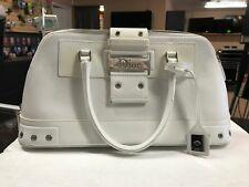 Christian Dior White Leather Tote Bag Purse Handbag