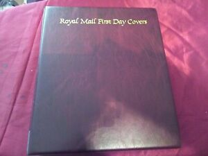 Royal Mail First Day Cover Album. Maroon 13 pages VGC.