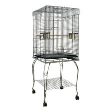 Large Metal Open Top Parrot Bird Cage Aviary for Cockatiels Lovebirds with Stand