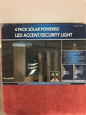 PARADISE 4 Pack Solar Powered LED Accent/Security Lights - New - FREE SHIPPING