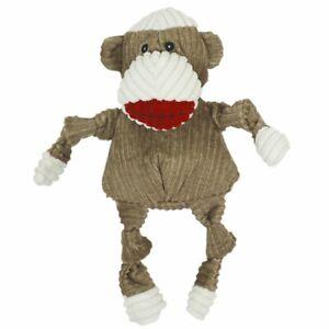Hugglehounds  KNOTTIE SOCK MONKEY Squeaker Dog Toy LARGE