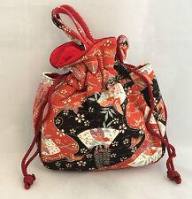 Japanese Kinchaku drawstring kimono bag, imported from Kyoto-Japan (B95)