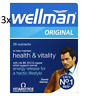 3x NEW Vitabiotics Wellman Original Multi Vitamin Minerals for Men 30 - multi