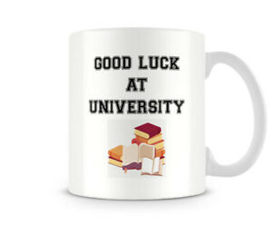 Good Luck At University - Printed Mug by Behind The Glass