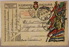 POSTA MILITARE 50 FRANCHIGIA ALBANIA AUTOGRUPPO DURAZZO 16.12.1919 #XP387A