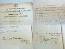 REVOLUTION 1848 in Wien: Dankbrief an Hauptmann, signiert v. GRÜNNE, v. DRAEXLER