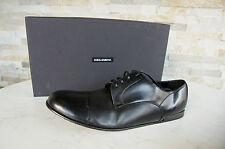 Dolce & Gabbana D&g 42,5 Chaussures Plates à Lacets Noire Neuf Autrefois