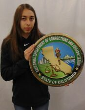 California Department of Corrections and Rehabilitation Seal all metal Sign