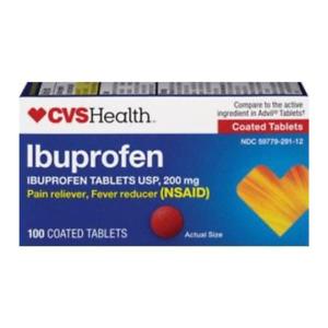 CVS Health Ibuprofen 200mg  100 Coated Tablets NSAID Fever / Pain