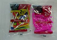 MASTERS PLASTIC GOLF TEES. LONG OR EXTRA LONG, MULTI COLOUR OR PINK *NEW*