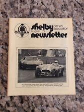 Shelby Cobra Owners Association Newsletter August 1974 New MINT Rare